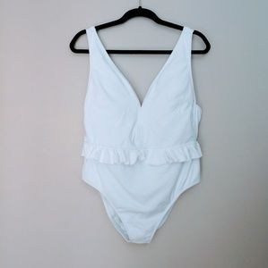 Jessica Simpson White One Piece Swimsuit XL